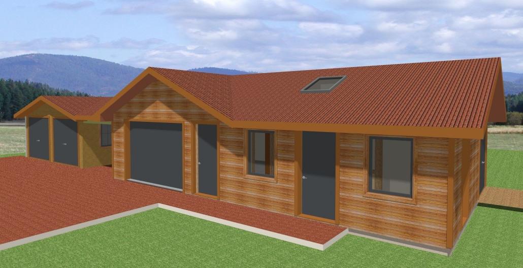 Cammachmore Garage Workshop 3D Render