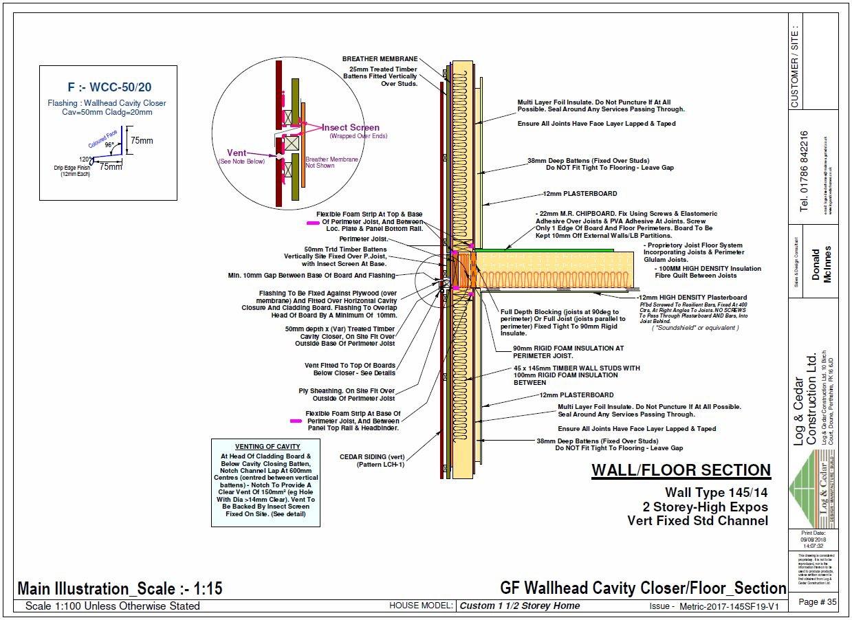 Construction Blueprints - Wall / Floor Section