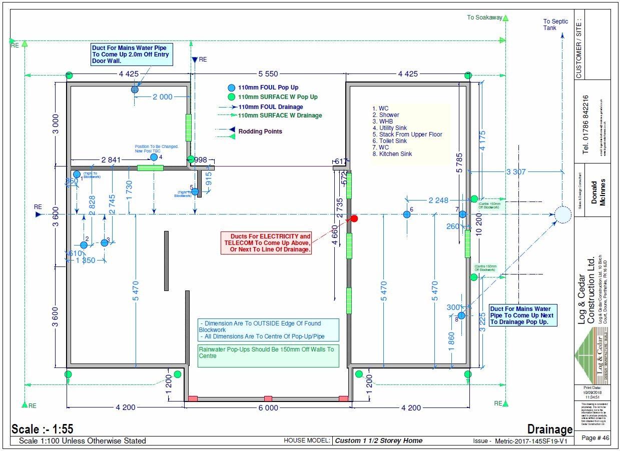 Construction Blueprints - Drainage