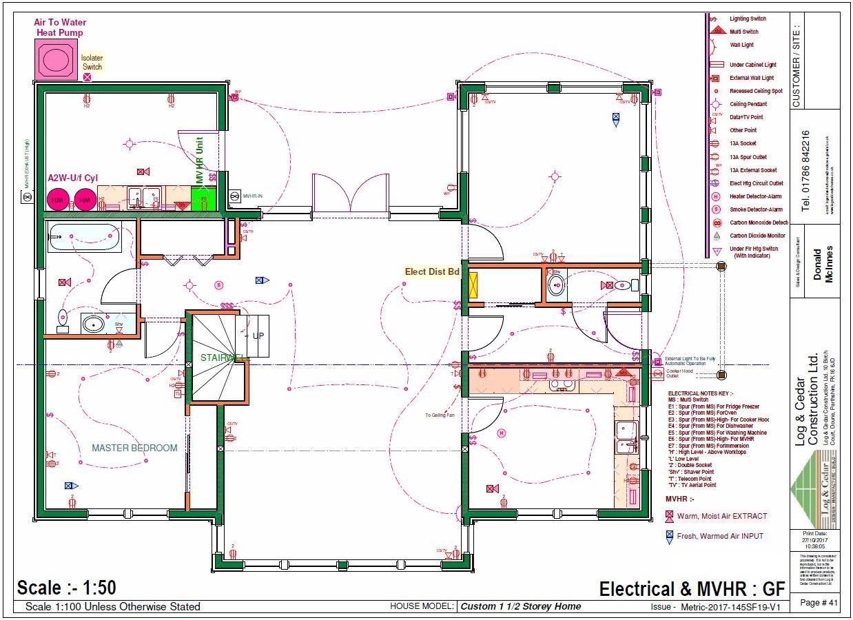 Construction Blueprints - Electrical and MVHR