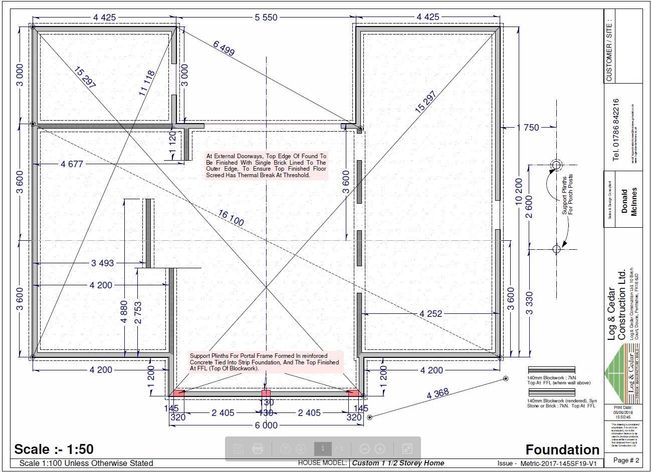 Construction Blueprints - Foundation