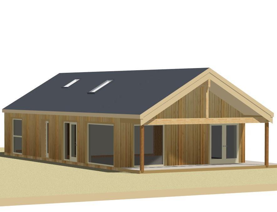 Beach Home 3D Render