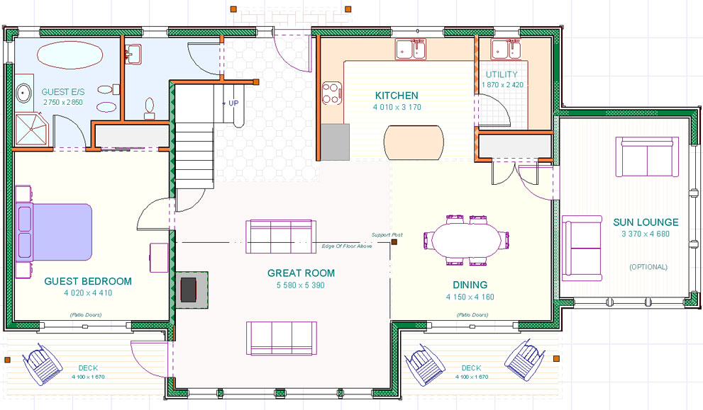 Lochnagar - Ground Floor Plan