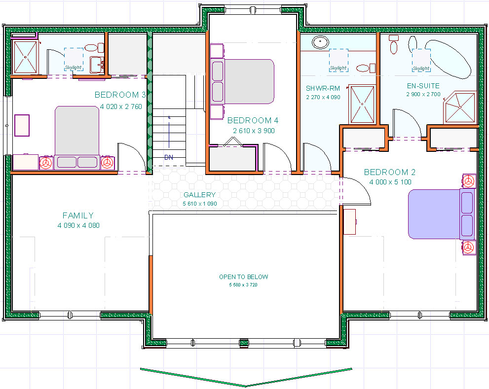 Lochnagar - Upper Floor Plan
