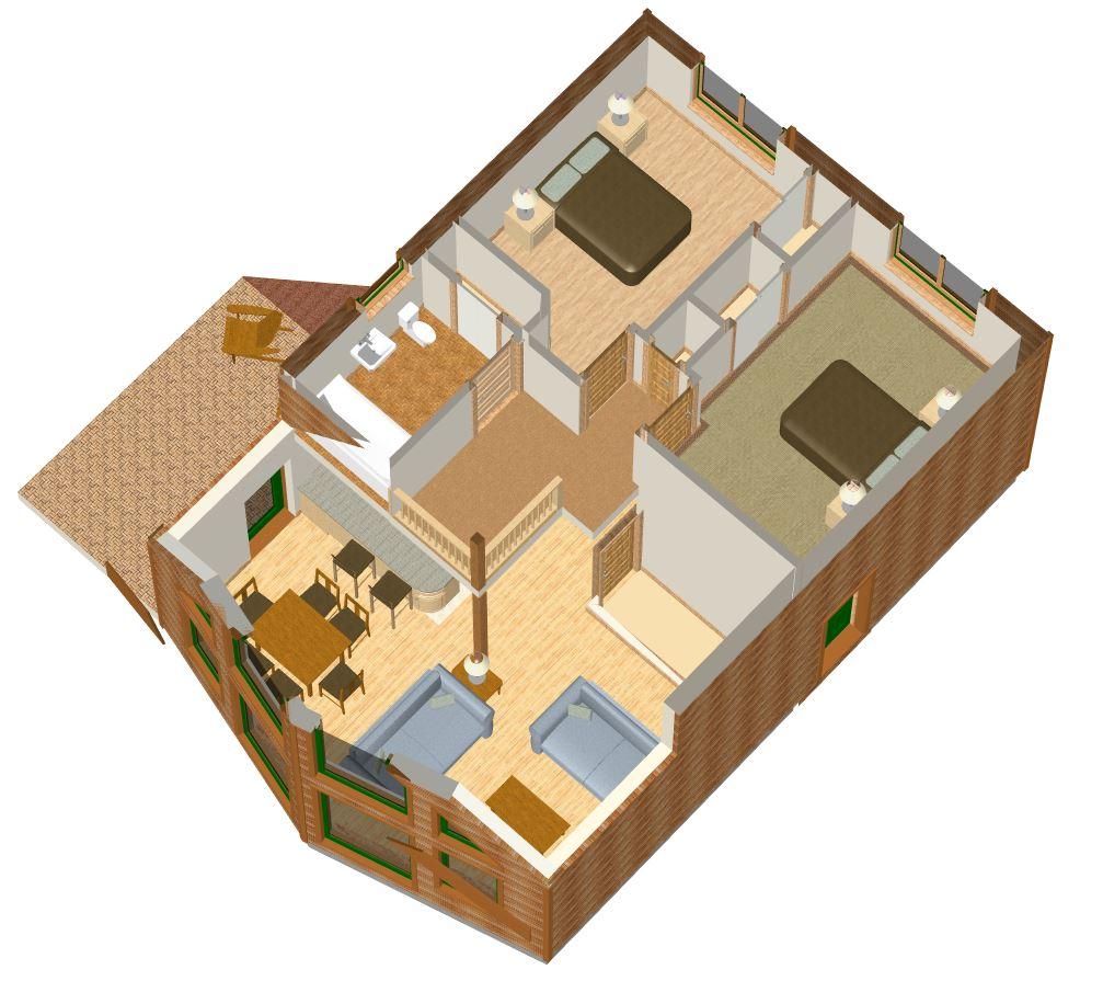 Cutaway 3D plan - Eden