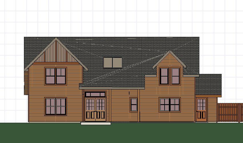 Plans 3D - front elevation